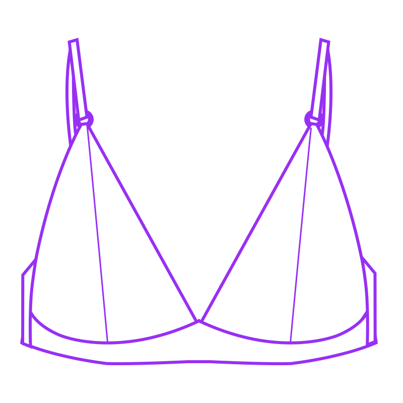 shaped well fitting bralette style 1